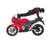 Stunt driver strikes a daring pose — Stock Photo
