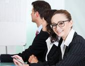 Smiling successful businesswoman — Stock Photo