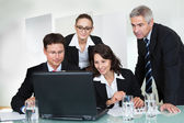 Smiling successful business team — Stock Photo
