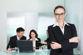 Corporate advancement and leadership — Stock Photo