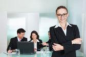 在企业发展和领导能力 — 图库照片