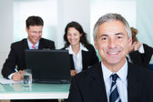 Corporate promotion and leadership — Stock Photo