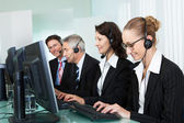 Operatori di call center — Foto Stock