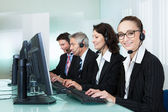 Call centre operators — 图库照片