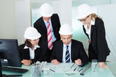 Meeting of architects or structural engineers — ストック写真