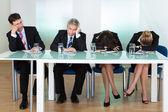 Panel horadado de jueces o de los entrevistadores — Foto de Stock