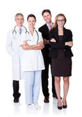Profesyonel hastane personeli — Stok fotoğraf