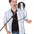 Singer and microphone — Stock Photo #18926507