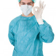 Surgeon giving a perfect gesture — Stock Photo