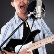 Singer with guitar — Foto de Stock
