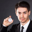 Business man with stop watch — Stock Photo