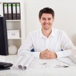 Confident young architect in his office — Stock Photo #18927531