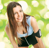 Smiling fitness women — Stock Photo