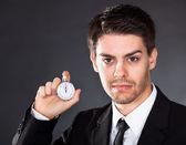 ビジネスの男性と時計の停止 — ストック写真