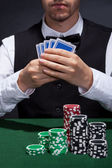 Poker player on a winning streak — Stock Photo