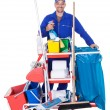 Portrait Of Smiling Cleaner - Foto Stock