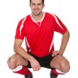 Portrait of professional soccer player — Stock Photo