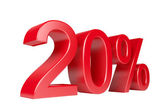 20 Percent Sale Discount — Stock Photo