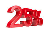 Desconto de 25 por cento venda — Foto Stock