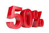 Descuento del 50 por ciento venta — Foto de Stock