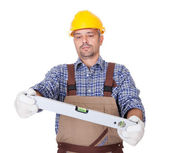 Portrait Of Technician Looking At Level — Stock Photo