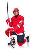 Portrait of professional hockey player — Stock Photo