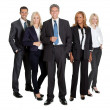 Foto Stock: Successful business team standing