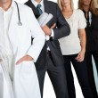 Group of with different occupations - Stock Photo