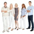 Business group standing confidently on white — Stock Photo #19638171