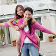 Happy mother and daughter having fun — Stock Photo