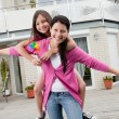 Stock Photo: Happy mother and daughter having fun