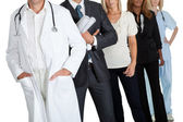 Group of with different occupations — Stock Photo