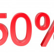 50 Percent Sale Discount — Stock Photo