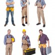 Industrial construction workers — Stock Photo #19905829