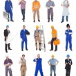 Industrial construction workers - Stock Photo
