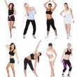Beautiful young fitness women — Stock Photo