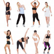 Beautiful young fitness women - Stock Photo