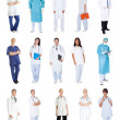 Medical workers, doctors, nurses — Foto Stock #19905871