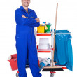Portrait Of Smiling Cleaner — Stock Photo