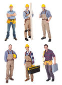 Industrial construction workers — Stock Photo