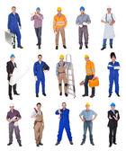 Trabalhadores da construção industrial — Foto Stock