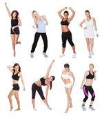 Beautiful young fitness women — Stock Photo