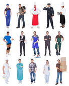 Professional workers, businessman, cooks, doctors, — Stock Photo