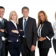 Dynamic business team on white background - Stock Photo