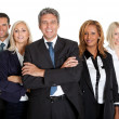 Successful business colleagues on white background — Stock Photo #19926147