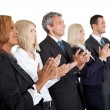 Group of business applauding on white — Foto de Stock
