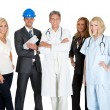 Group of in different occupations on white — Stock Photo #19926263