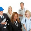 Group of in different professions — Stock Photo