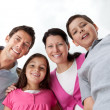 Portrait of beautiful young family together — Stock Photo