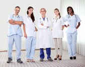 Successful happy group of doctors — Stock Photo